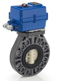 electric actuated pvc butterfly valve with basiks actuator